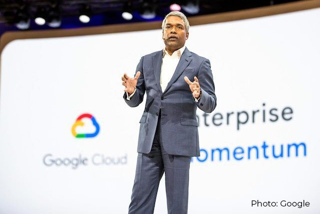 Google Cloud CEO Thomas Kurian delivers the keynote at Google Cloud Next 2019