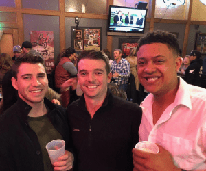 Bret Wilson with friends