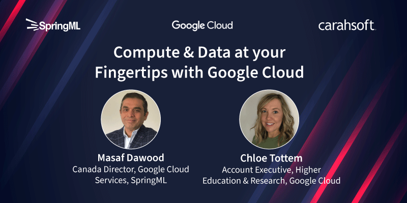 Compute & Data at your fingertips with Google Cloud