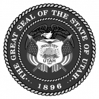 state-of-utah-white logo